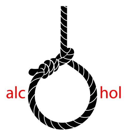 alcoolisme: Bourreau Illustration