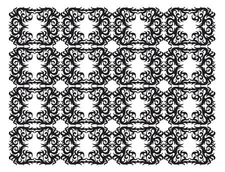 eg: ornamental silhouette Illustration