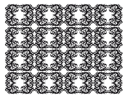 springe: ornamental silhouette Illustration