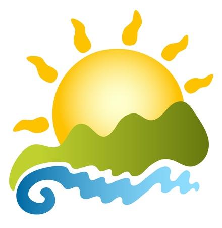 travel logo: sun Illustration