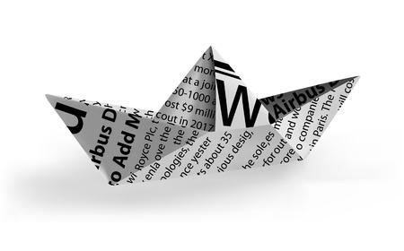 paper ship Stock Vector - 18826336