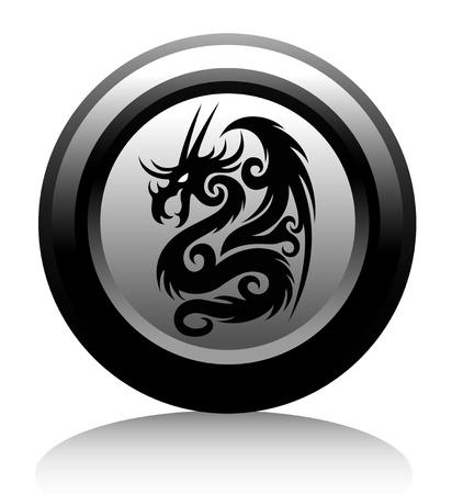 web icon with black dragon Stock Vector - 18826095