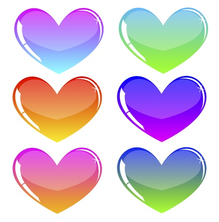colored hearts Stock Vector - 18826156