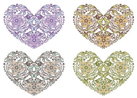 secret love: Floral hearts