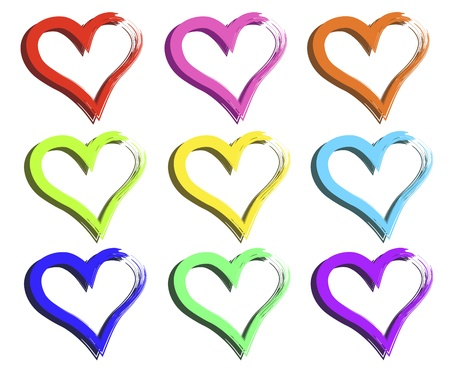 amur: colored hearts