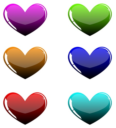 hearts Stock Vector - 18826425
