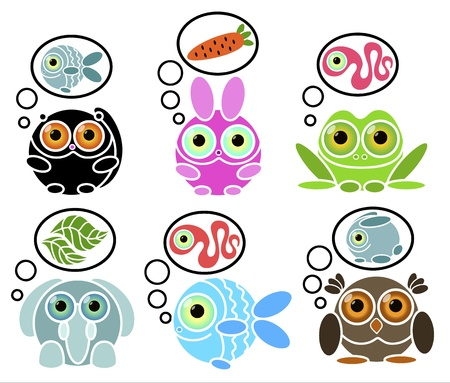 animals with dreams Stock Vector - 18826694