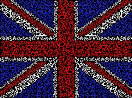 scottish flag: Bandiera britannica simbolo dell'anarchia Vettoriali