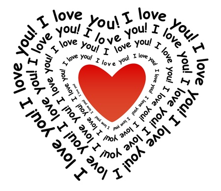 I love you in the form of heart Stock Vector - 18826139