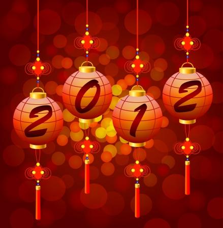 Chinese New Year lanterns Stock Vector - 18826614