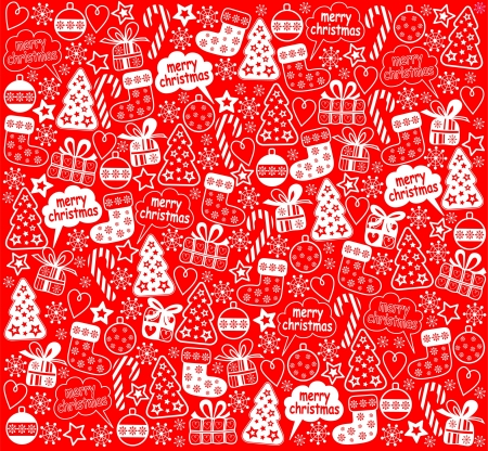 funn: Christmas red background Illustration