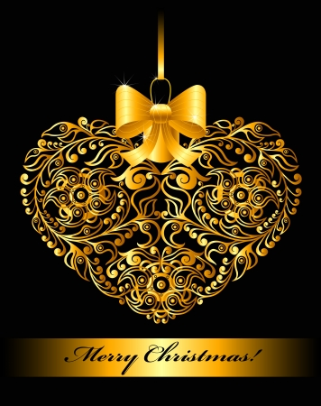 felling: Christmas card with patterned heart
