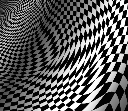 abstract wavy chess background Vector