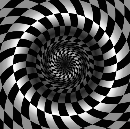 abyss: Abstract black and white chess background