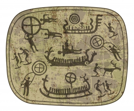 esquimales: petroglifo chamánico