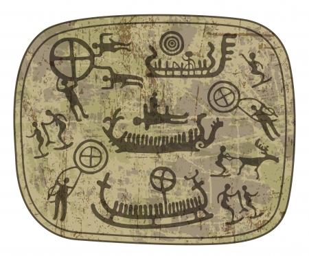 stone age: shamanic petroglyph