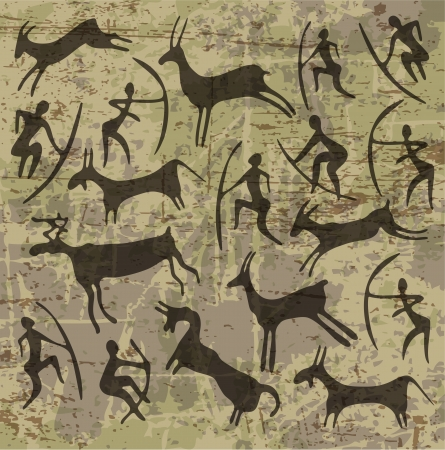 primitive: background with petroglyphs