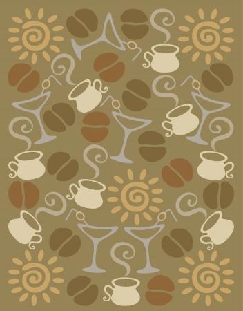 originality: coffee background Illustration