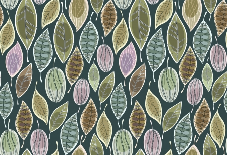 Seamless background with leaves Stock Vector - 18826612