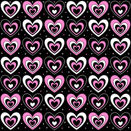 hearts on a black background Stock Vector - 18826028