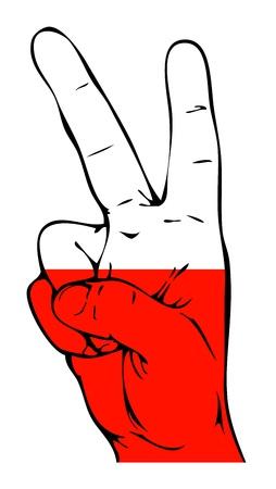 polish flag: Peace Sign of the Polish flag