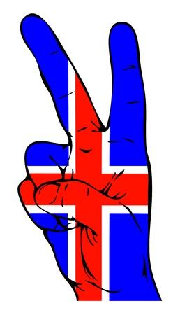 icelandic flag: Signo de la paz de la bandera de Islandia