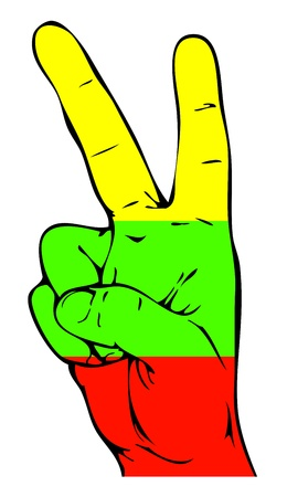 lithuanian: Peace Sign of the Lithuanian flag