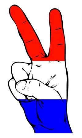 holanda bandera: Signo de la paz de la bandera holandesa
