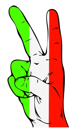 peace flag: Peace Sign of the Italian flag Illustration