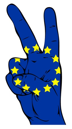 love expression: Peace sign of the flag of the European Union