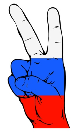 peace flag: Peace Sign of the Russian flag Illustration