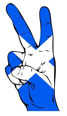 edinburgh: Friedenszeichen der schottischen Flagge