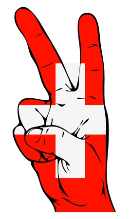 swiss flag: Peace Sign of the Swiss flag Illustration