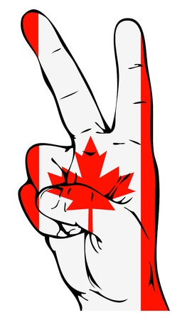 Peace Sign of the Canadian flag Stock Vector - 19289034