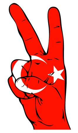 turkish flag: Peace Sign of the Turkish flag