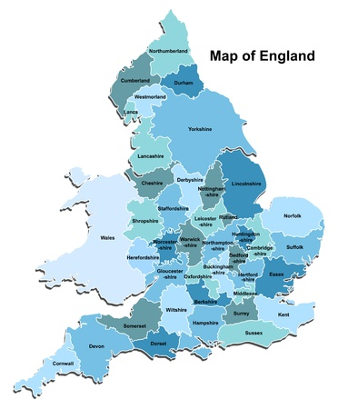 england map: Map of England
