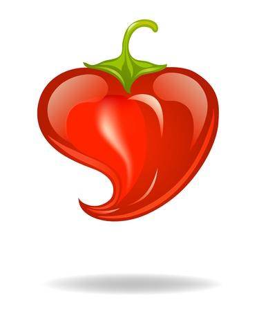 heart pepper Vector