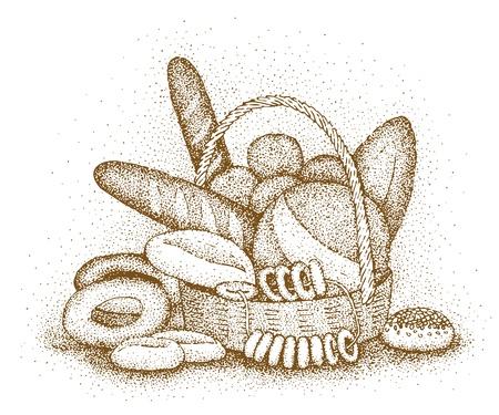 frenetic: Bakery products hand-drawn illustration