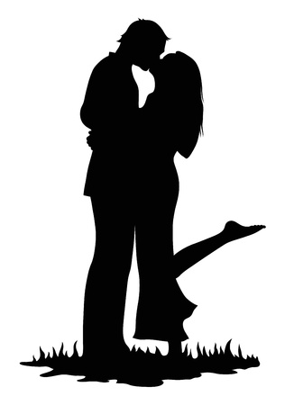 Kissing lovers Stock Vector - 19972321