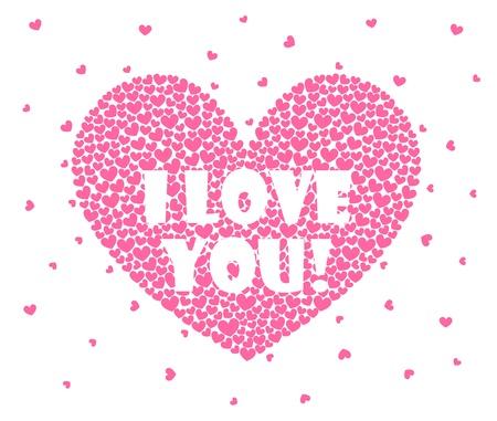 siluetas de enamorados: corazones sobre un fondo blanco Vectores