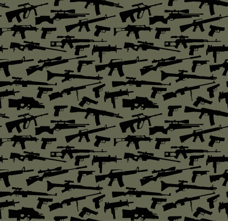 Weapon vector seamless background Vector