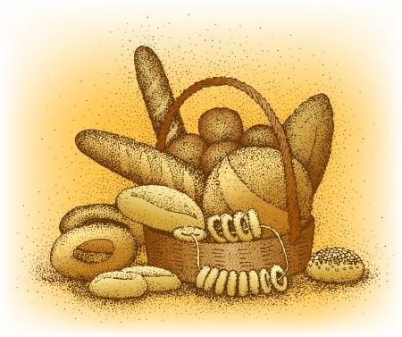 pasteleria francesa: Productos de panader?a ejemplo a mano
