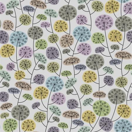 braun: Floral seamless background