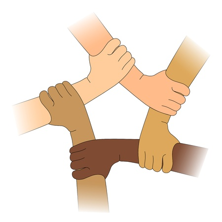 residents: Hands of different races