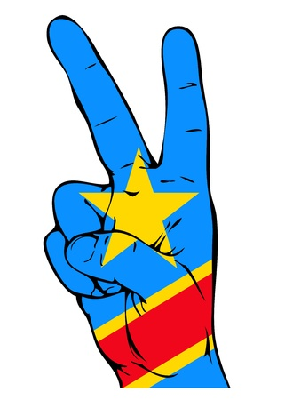 republic of the congo: Peace Sign of the Congo flag