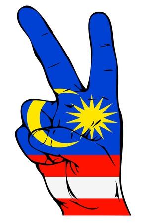Peace Sign of the Malaysian flag