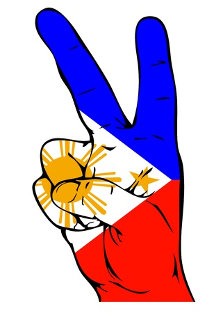 victorious: Peace Sign of the Philippine flag