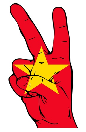 Peace Sign of the Vietnamese flag Stock Vector - 22121646