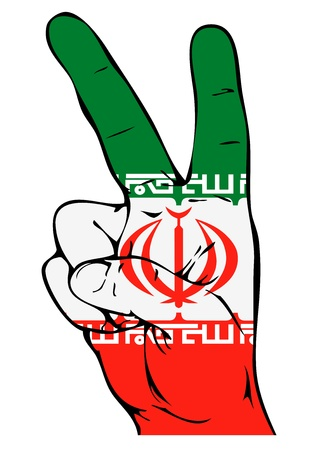 iranian: Peace Sign of the Iranian flag