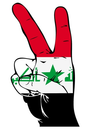 iraqi: Peace Sign of the Iraqi flag